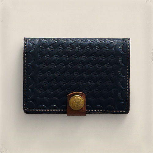 Stamped Leather Card Wallet 83569456