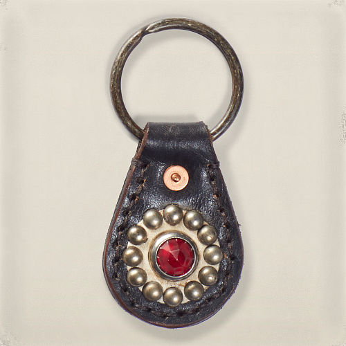 Studded Leather Key Fob 82569136