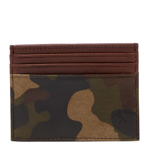 Camo Leather Card Case 88845656