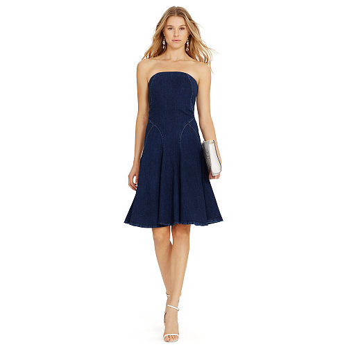 Strapless Denim Dress 87041276