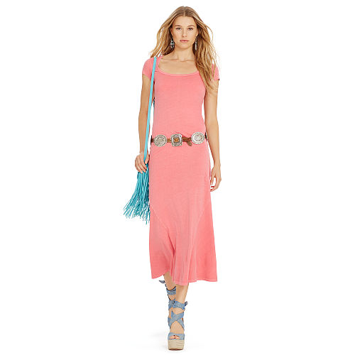 Cotton Scoopneck Maxidress 90496606