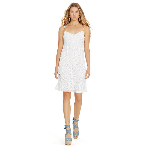 Cotton Lace Slip Dress 90496506