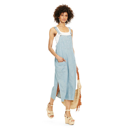 Cotton Linen Overall Dress 90495936