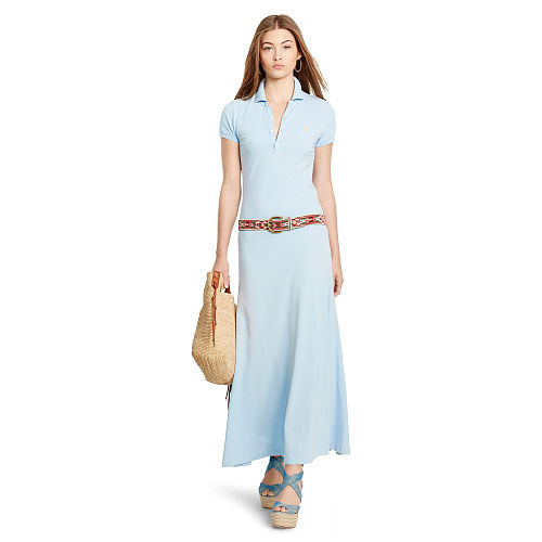 Pima Cotton Polo Maxidress 90495876