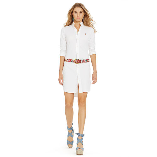 Knit Oxford Shirtdress 90496196