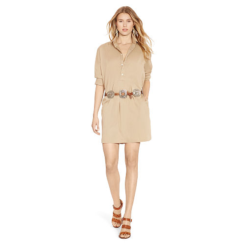 Cotton Twill Shirtdress 91836996
