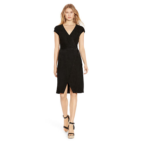 Suede Wrap Dress 91837036