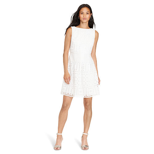 Cotton Eyelet Dress 92832636