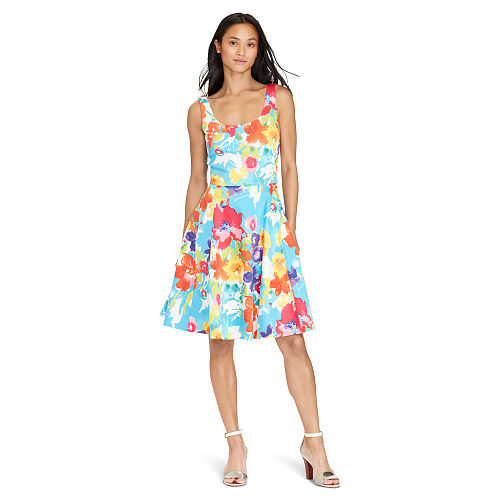Floral Fit and Flare Dress 93346336