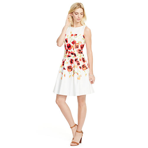 Floral Fit and Flare Dress 88463126