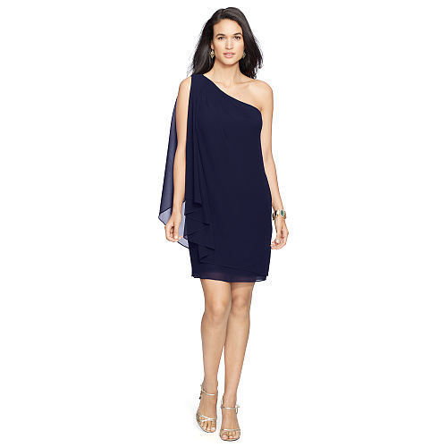 Georgette Cape Dress 84775376