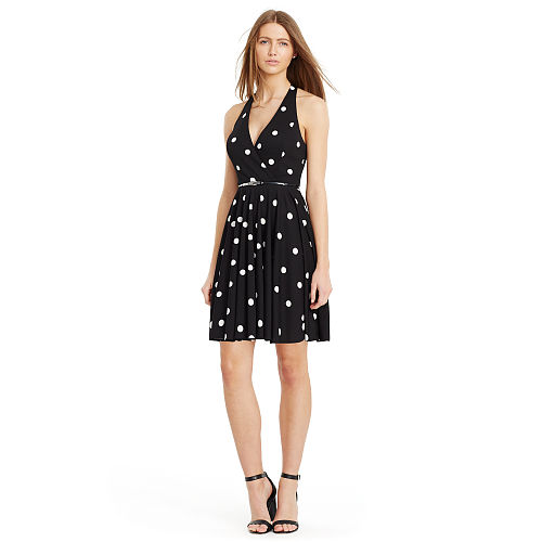 Polka Dot Jersey Dress 91762676