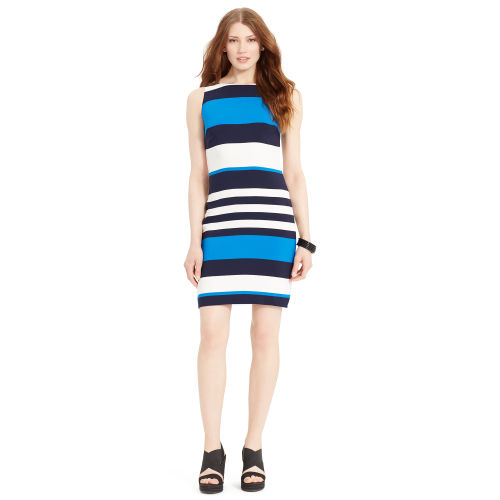 Striped Sleeveless Dress 66153586