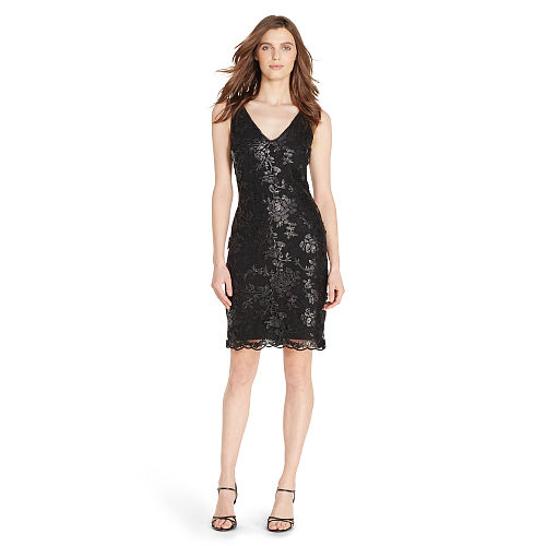 Sequined Lace Sheath Dress 88463006