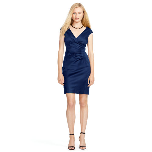 Satin Cap Sleeve Dress 78976826
