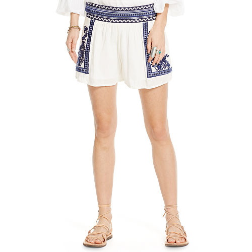 Embroidered Gauze Short 86575096