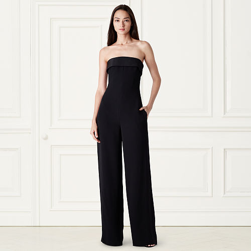 Cate Strapless Silk Jumpsuit 79163616