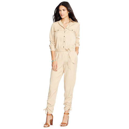 Belted Twill Jumpsuit 88463426