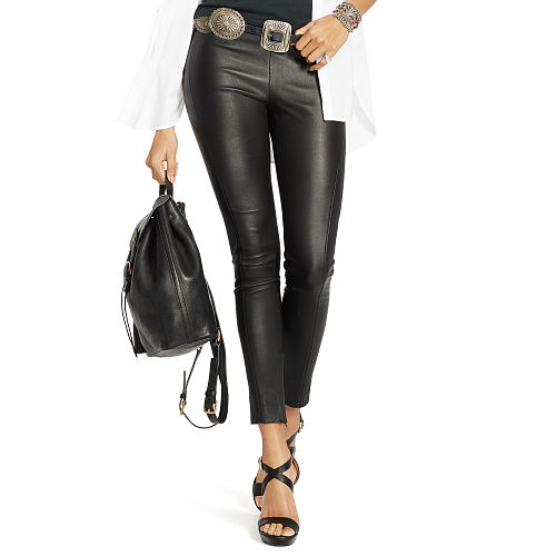 Cropped Skinny Leather Pant 87040466