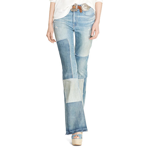 Flared Patchwork Jean 90495886