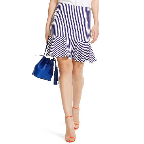 Striped Cotton Skirt 90496326