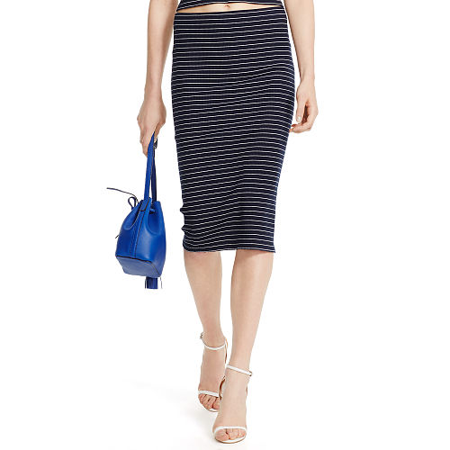 Striped Cotton Pencil Skirt 90496276