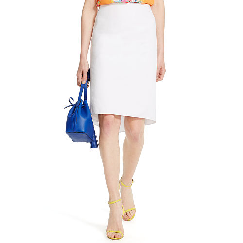 Cotton Fish Tail Pencil Skirt 90496236