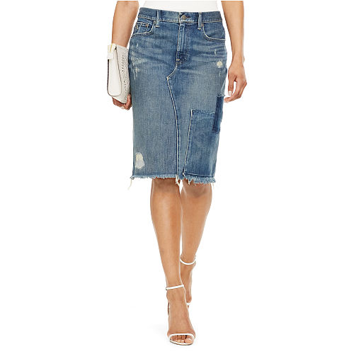 Denim Pencil Skirt 90496206