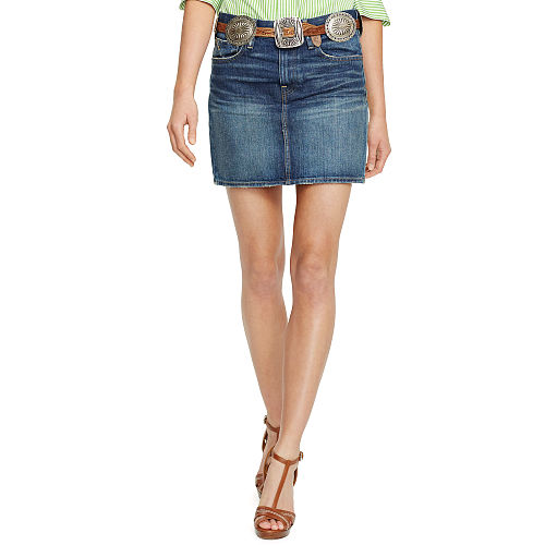 Denim Miniskirt 87040826