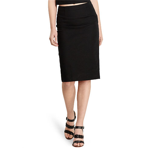 Tweed High Waist Pencil Skirt 91837006