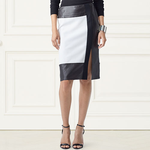 Eleanora Two Tone Wool Skirt 79163876