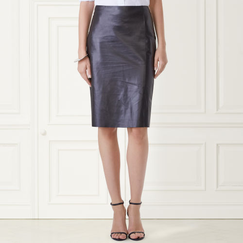 Cindy Lambskin Pencil Skirt 66429296