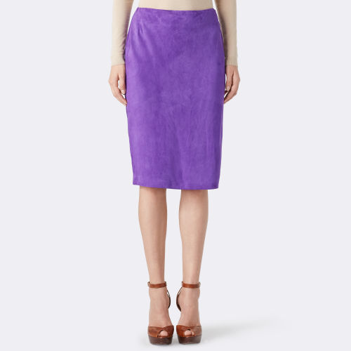 Cynthia Suede Pencil Skirt 79459726