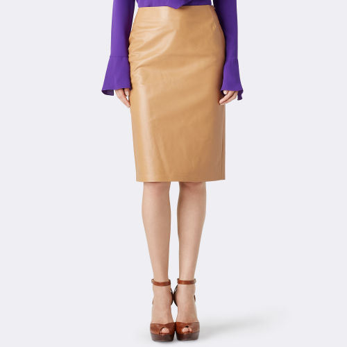 Cynthia Lambskin Pencil Skirt 79459416