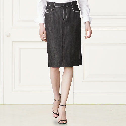 Candice Denim Pencil Skirt 79459256