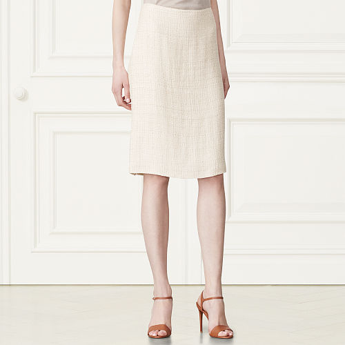 Cindy Linen Silk Tweed Skirt 79459266