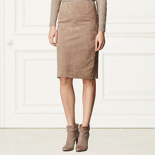 Cynthia Suede Pencil Skirt 94800796