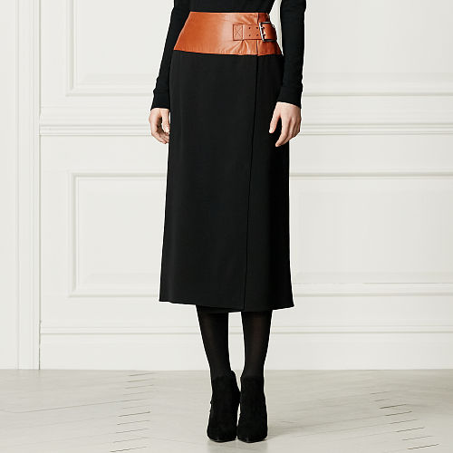 Donaldson Leather Trim Skirt 94800916