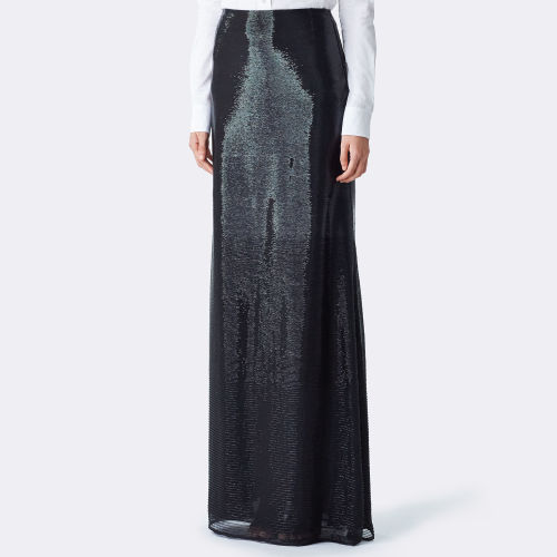 Taryn Beaded Silk Skirt 79459106