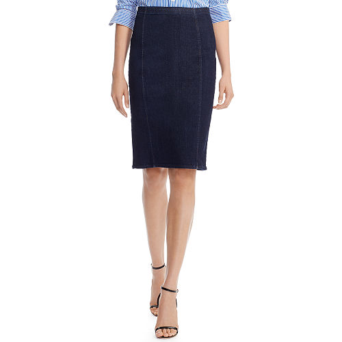 Denim Pencil Skirt 87040736