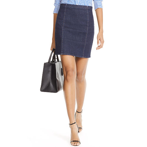 Denim Pencil Skirt 87041226