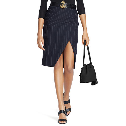 Wool Pinstripe Skirt 82502456