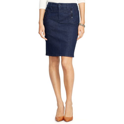 Stretch Denim Pencil Skirt 81248726