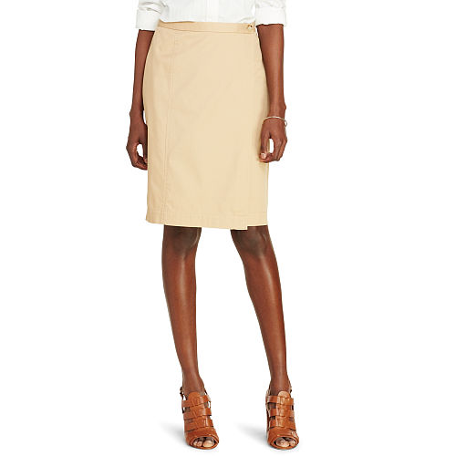 Straight Twill Wrap Skirt 88463246