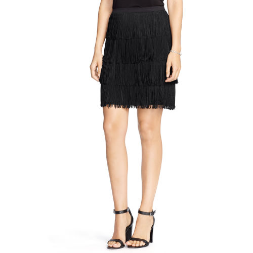 Fringed Straight Skirt 75958606
