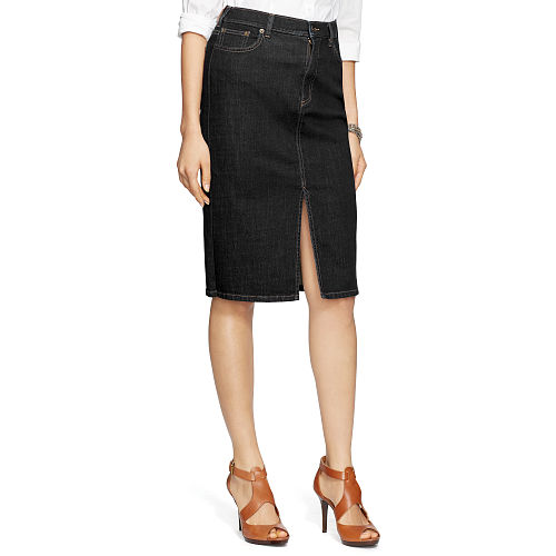 Stretch Denim Pencil Skirt 85888636