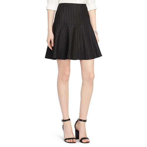 Wool Twill A Line Skirt 85892066