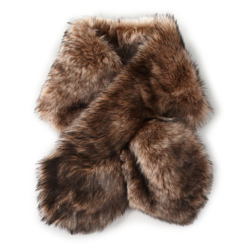 Shearling Pull Through Scarf 66428216
