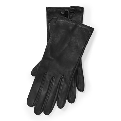 Buttoned Leather Gloves 81003856