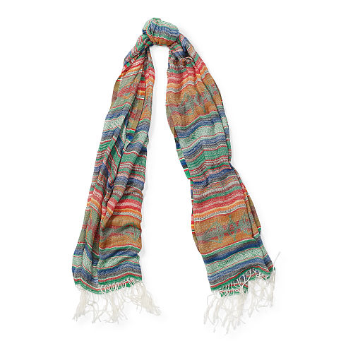 Crinkled Cotton Scarf 87041736